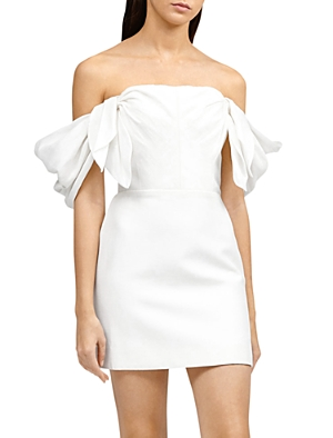 Acler Dresses SELKIN OFF-THE-SHOULDER DRAPED MINI DRESS