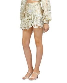 Acler - Meredith Scalloped Cutout Mini Skirt