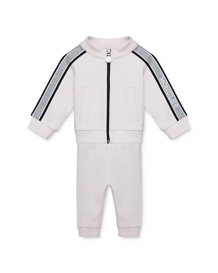 Moncler - Girls' Velour Track Jacket & Jogger Pants Set - Baby, Little Kid