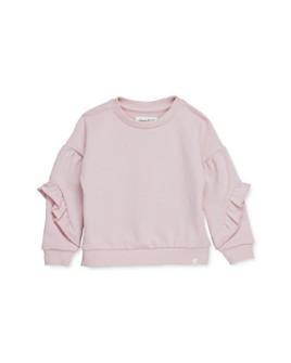 Sovereign Code - Girls' Ruffle-Sleeve Sweatshirt - Little Kid