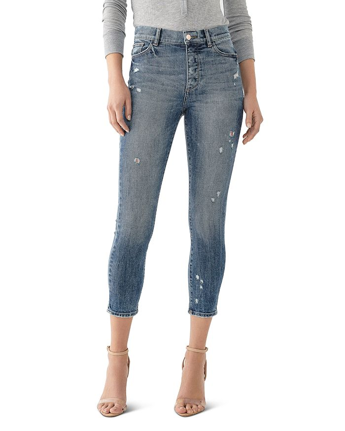 DL1961 - Farrow High-Rise Cropped Skinny Jeans in Tacoma