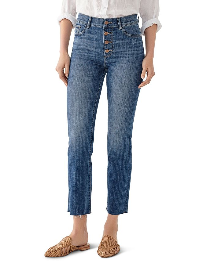 DL1961 - Mara High-Rise Ankle Straight Jeans in Bardot