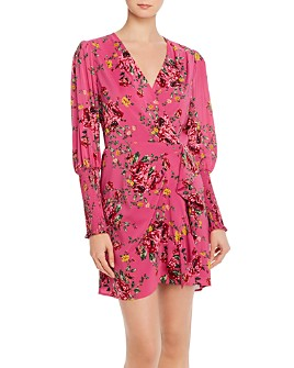 WAYF - Rosie Puff-Sleeve Wrap Dress