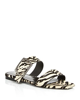 Saint Laurent - Women's Oak Animal-Print Sandals