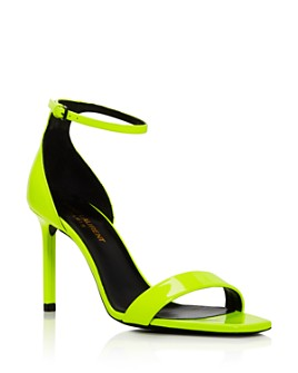 Saint Laurent - Women's Neon High-Heel Sandals