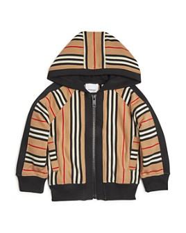 Burberry - Girls' Aurelie Icon-Stripe Hooded Sweatshirt - Little Kid, Big Kid