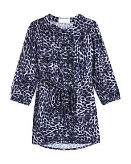Bella Dahl - Girls' Leopard Print Smocked Dress - Little Kid, Big Kid