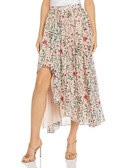Amur - Floral Silk Maxi Dress