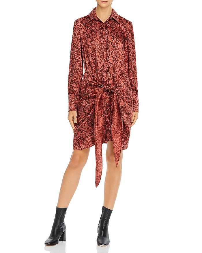 Cinq à Sept - Gaby Snakeskin-Print Dress