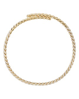 David Yurman - 18K Yellow Gold Pavéflex Necklace with Pavé Diamonds