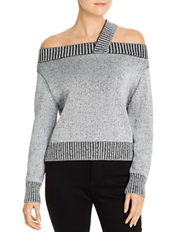 Elan - Metallic Open-Shoulder Sweater