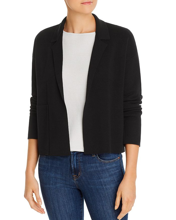 Eileen Fisher - Cropped Lapel Cardigan