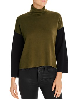Eileen Fisher - Boxy Color-Block Turtleneck