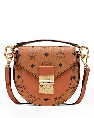 Mcm Patricia Visetos Mini Shoulder Bag-Handbags