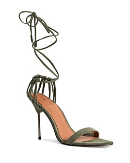 REISS - Women's Zhane Ankle-Tie High-Heel Sandals