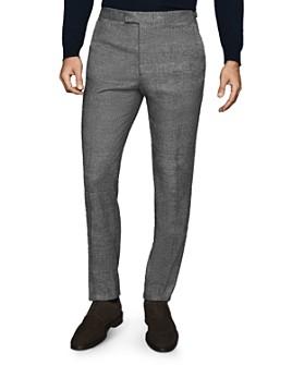 REISS - Capital Glen Plaid Flannel Slim Fit Pants