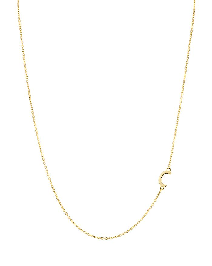 """Argento Vivo - Asymmetrical Initial Necklace in 18K Gold-Plated Sterling Silver, 16"""""""
