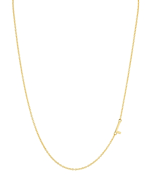 Asymmetrical Initial Necklace in 18K Gold-Plated Sterling Silver
