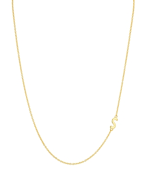 Argento Vivo Asymmetrical Initial Necklace in 18K Gold-Plated Sterling Silver, 16