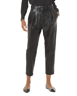 MICHAEL Michael Kors - Pleated Faux-Leather Pants