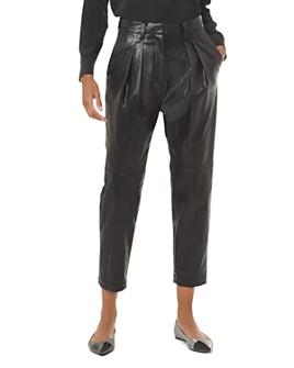 MICHAEL Michael Kors - Pleated Faux-Leather Pants