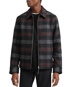 Theory - Mosaic-Plaid Wool Regular Fit Shirt Jacket