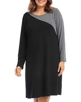 Karen Kane Plus - Color-Blocked Sweater Dress