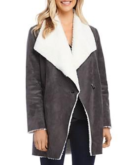 Karen Kane - Faux-Shearling Toggle Coat