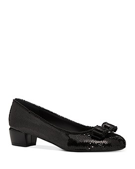 Salvatore Ferragamo - Women's Vara Sequin Low-Heel Pumps