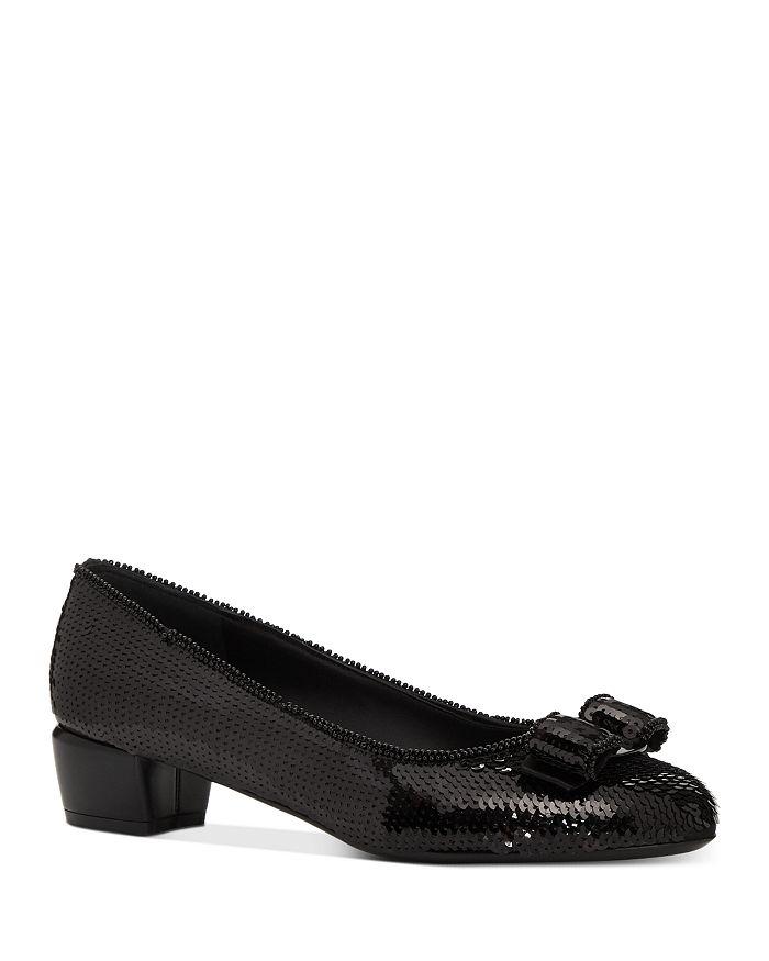Salvatore Ferragamo - Women's Vara Sequin Low-Heel Pumps