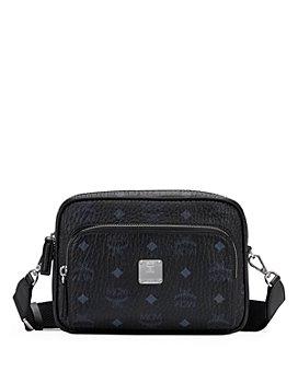 MCM - Visetos Leather-Trimmed Crossbody Bag