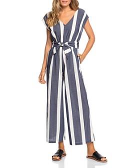 Roxy - Same Old Blues Striped Jumpsuit