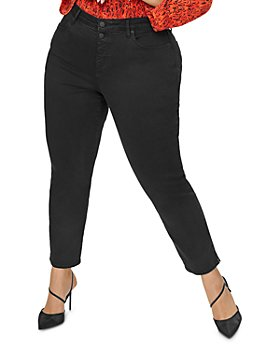 NYDJ Plus - Sheri Slim Ankle Jeans in Black