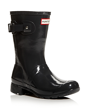 Hunter Boots WOMEN'S ORIGINAL TOUR SHORT GLOSS RAIN BOOTS