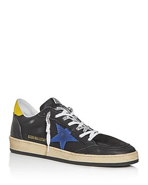 Golden Goose Deluxe Brand Men's Ball Star Lizard Leather Low-Top Sneakers