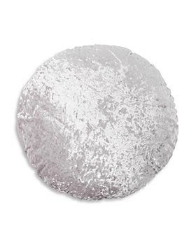"Peri Home - Round Crushed Velvet Macaron Decorative Pillow, 18"""
