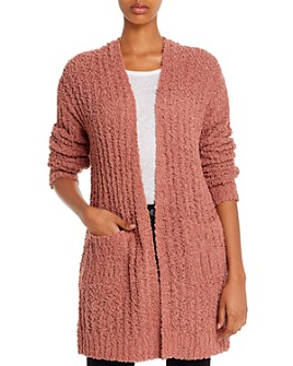Alison Andrews - Textured Open-Front Knit Cardigan