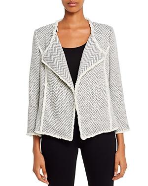 Chevron Knit Open-Front Jacket