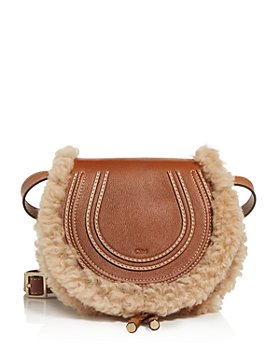 Chloé - Marcie Small Leather & Shearling Crossbody