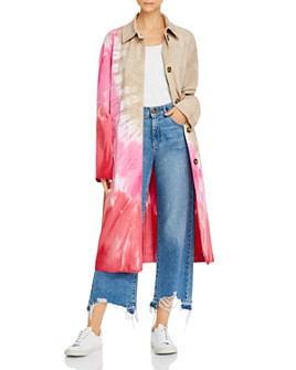 MSGM - Cappotto Tie-Dyed Trench Coat