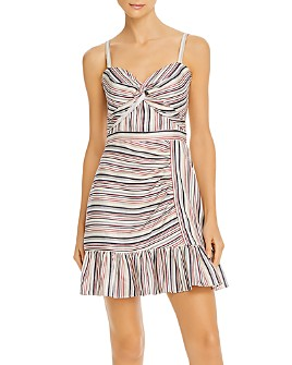 Parker - Risa Sleeveless Striped Twist-Front Dress