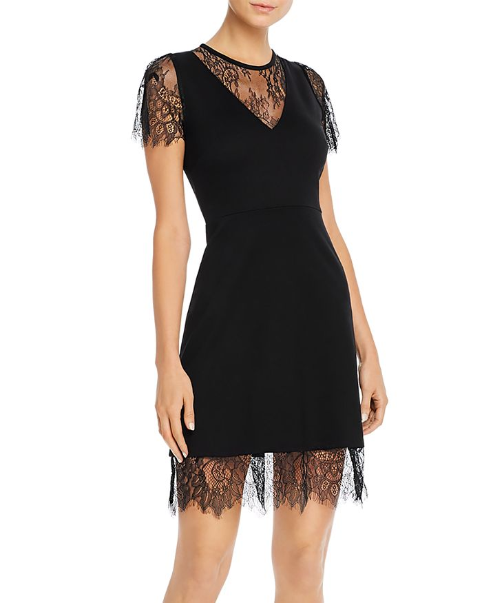 FRENCH CONNECTION - Madalyn Lula Lace-Detail Mini Dress