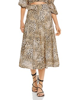 Faithfull the Brand - Luda Leopard-Print Belted Midi Skirt