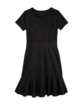 AQUA - Girls' Flounced Faux Suede Dress, Big Kid - 100% Exclusive