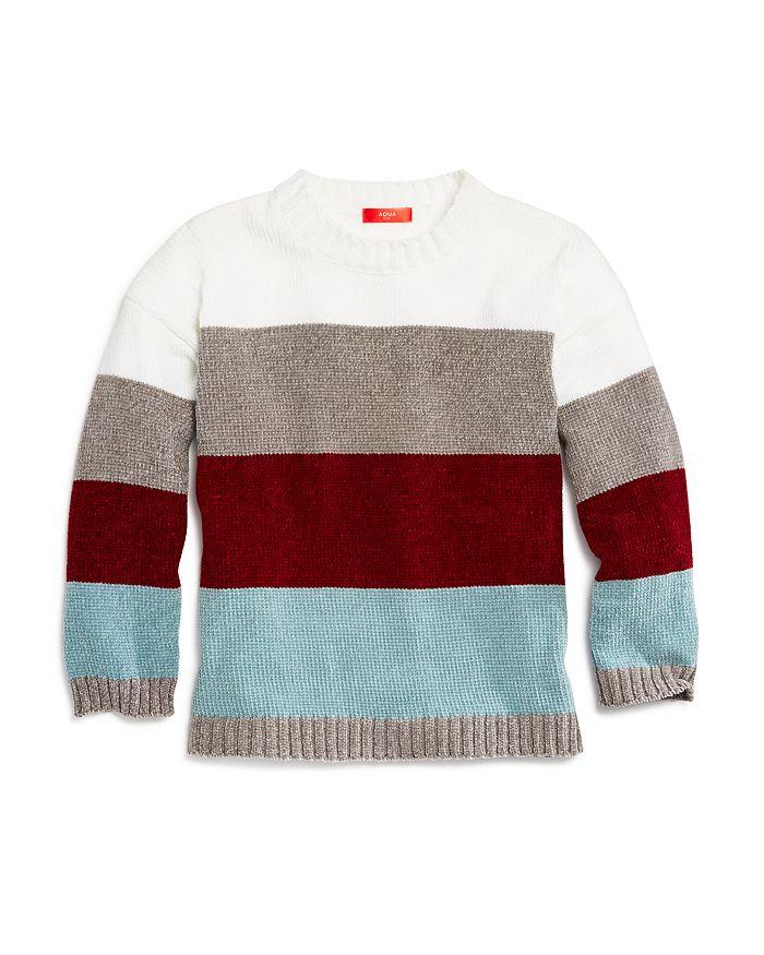 AQUA - Girls' Colorblock Sweater, Big Kid - 100% Exclusive