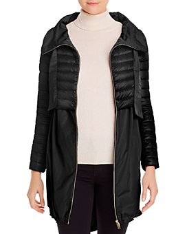 Herno - Cropped Down Overlay Coat