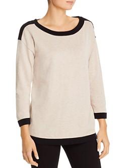 KARL LAGERFELD PARIS - Bow-Detail Drop Shoulder Sweater