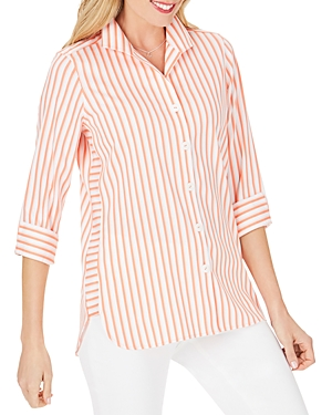 Foxcroft Pandora Non-Iron Spring Striped Tunic-Women
