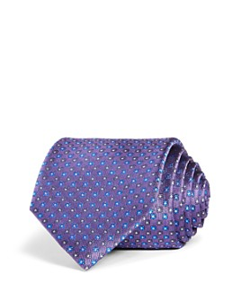 The Men's Store at Bloomingdale's - Neat Repeating Square Woven Silk Classic Tie - 100% Exclusive
