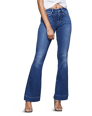 Good American Good Flare Jeans in Blue363-Women